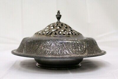 VINTAGE WILCOX SILVER CO PAISLEY BOWL FROG CENTERPIECE 811 SILVER PLATED 1920's