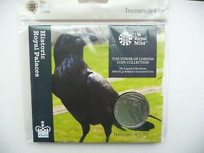 2019 £5 Coin Tower of London Legend of the Raven Brilliant Uncirculated BU Coin.