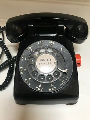 1957 Bell System Western Electric 500 Black Rotary Dial Desk Phone telephone