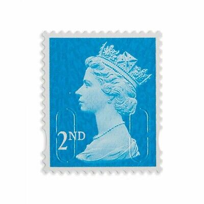 500 x 2nd Class Royal Mail Stamps; Unfranked, No Gum, Off Paper Face value £305
