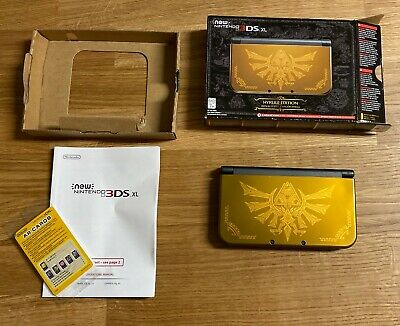 Nintendo 3DS XL Hyrule Edition 4gb No charger Lightly Used