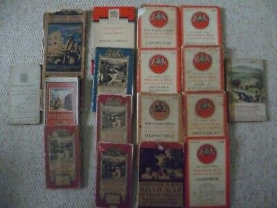 Job Lot of 17 vintage Ordnance Survey Maps (14 linen/cloth) 1910-1953
