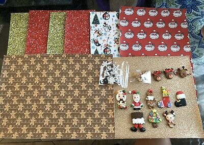 Hair Bow Faux Leather Sheets & Center Clays CHRISTMAS BUNDLE LOT