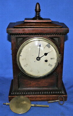 Antique Fusee mantel clock,