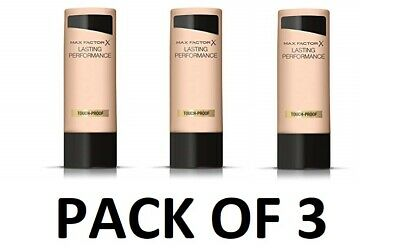 x 3 MAX FACTOR Lasting Performance Touch Proof Foundation 35ml 101, 102, 106
