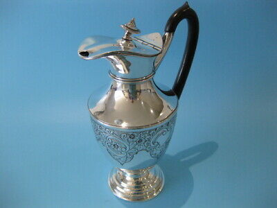 Beautiful Ornate Antique Silver Plated Georgian Repousse Claret / Wine Pitcher