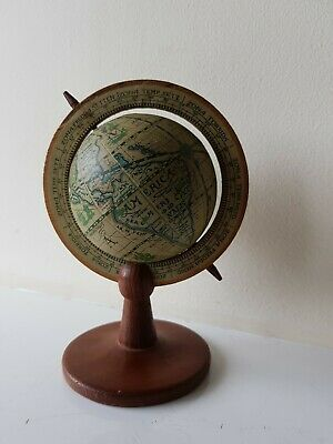 Vintage Retro Old World Zona Signs Globe Spins on Stand