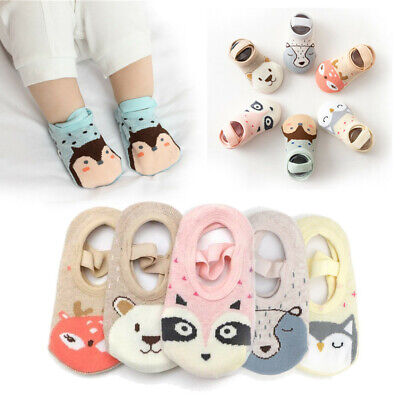 Soft First Walkers Booties Baby Socks Cotton Floor Socks Infant Crib Shoes