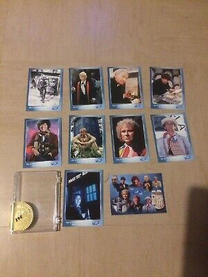 Strictly Ink Doctor Who Trade Card Puzzle Back Set Of 10 - 268/4,000