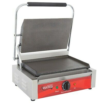 Commercial Panini Sandwich Grill with Smooth Plates