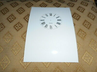"Quartz Carriage Clock Paper (Card) Dial- 1 3/4"" M/T - High Gloss White - Parts"