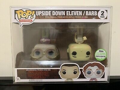 Funko Pop Stranger Things Upside Down Eleven & Barb Official ECCC w/Protector