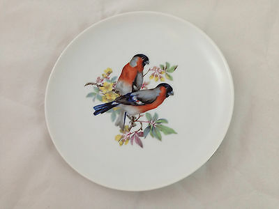 """Vintage Kaiser Germany Red Blue Feathers Birds Plate 7"""" VGC"""
