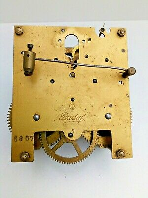 Baduf Mantel Clock Movement - Parts or Repair- German
