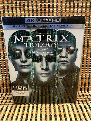The Matrix Trilogy 4K (9-Disc Blu-ray, 2018)+Slipcover.Reloaded/Revolutions