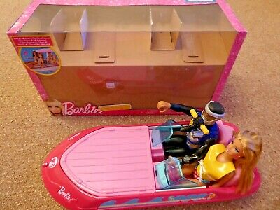 BARBIE Glam Boat, With Barbie Doll & Diver, BOXED, GOOD CONDITION