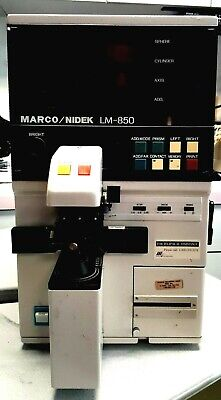 MARCO/NIDEK LM-850 autolensometer with printer