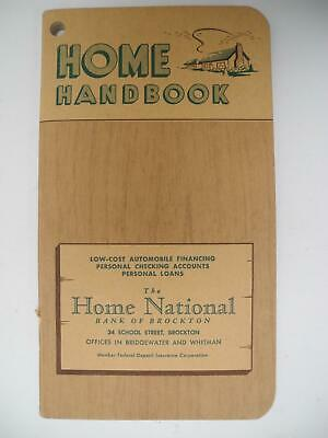 Vintage 1950's Home Handbook - Do it Yourself Guide from Brockton, Mass Business