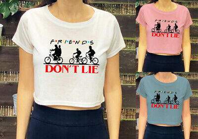Friends Don't Lie Stranger Things Inspired  Trendy Kids Girls Womens Crop Top