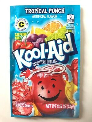 Kool-Aid Drink Mix - TROPICAL PUNCH x5 Sachets - Imported from USA