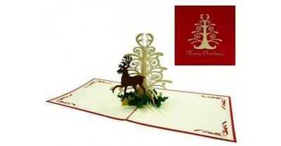 Reindeer High Quality Popup Card **Best price in Australia**