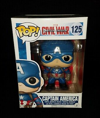 Funko POP! Marvel Captain America Civil War *CAPTAIN AMERICA* #125 Vinyl Figure