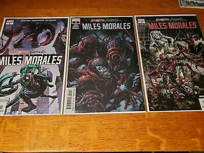 ABSOLUTE CARNAGE miles morales 1 2 3 1ST PRINT set MARVEL CLAYTON CRAIN 1st app