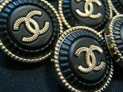 CHANEL  2 CC  BLACK MATTE GOLD 21mm BUTTONS THIS IS FOR TWO