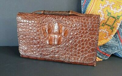 Vintage Australian Saltwater Crocodile Unisex Leather Bag …beautiful accent & co