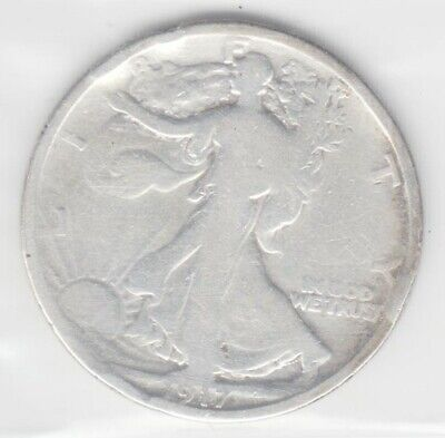 1917 Walking Liberty Half Dollar Silver Coin ~ 90% Silver ~ US Mint Coin 192153