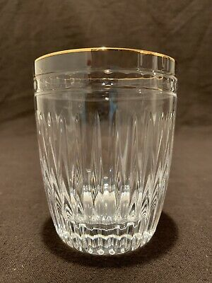 """Waterford Marquis Crystal Hanover Gold Double Old Fashioned Tumblers 4"""" H MANY"""