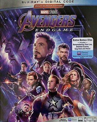 AVENGERS ~ END GAME ~ Blu-Ray + Digital *New *Factory Sealed