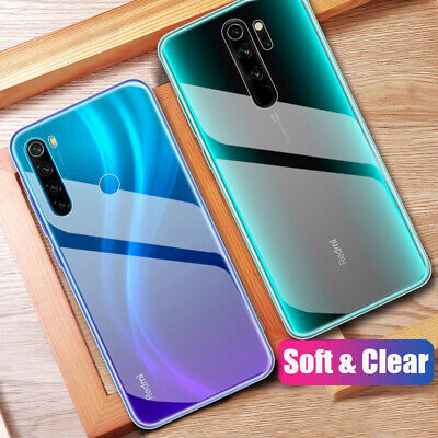 Shockproof Transparent Cover Silicone Soft Case For Xiaomi Redmi Note 8 7 6 Pro