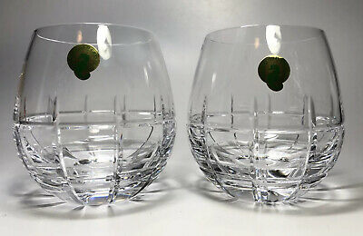 Waterford Crystal ~Cluin ~12 Ounce Stemless Red Wine Glasses ~ Set of 2 ~ NWT