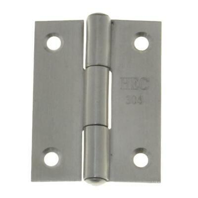 50mm x 38mm x 1.4mm FIXED PIN BUTT HINGE 4 Hole Door STAINLESS A2-70 G304