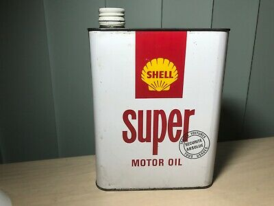 Shell Super Motor Oil Can