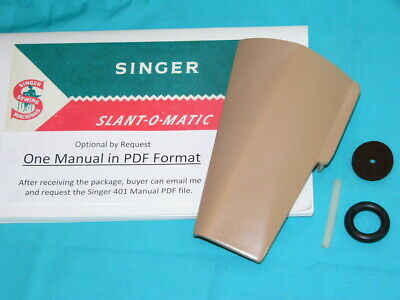 Left DOOR Cover Plate 401 401A Singer Sewing Machine Swinging Plate w/PDF Manual