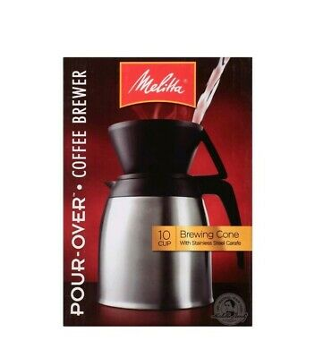 Melitta Pour-Over 10 Cup Coffee Brewer w/Stainless Steel Thermal Carafe