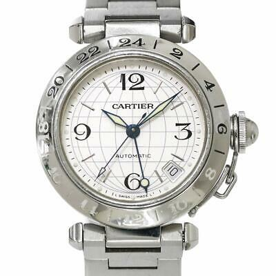 Cartier PashaC Meridian GMT Automatic Silver Dial Boys W31078M7 90086163