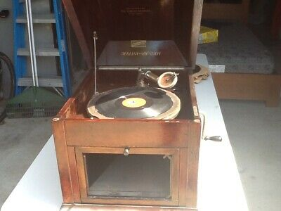 Vintage wind up record player