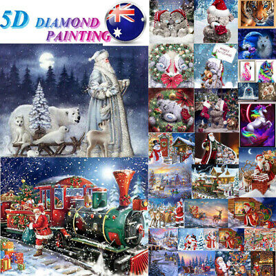 AU 5D DIY Diamond Painting Full Drill Santa Art Cross Stitch Kits Home Christmas