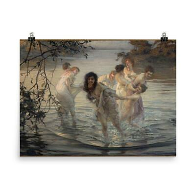 WILLIAM ADOLPHE BOUGUEREAU NYMPHS SATYR OLD MASTER ART PAINTING PRINT 3131OMLV
