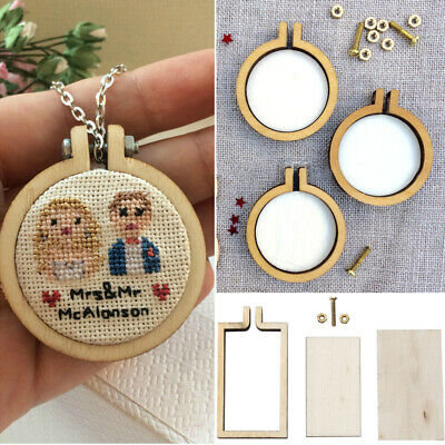 Mini Gift Hand Stitching Wooden Framing Embroidery Hoop Cross-Stitch Frame Art
