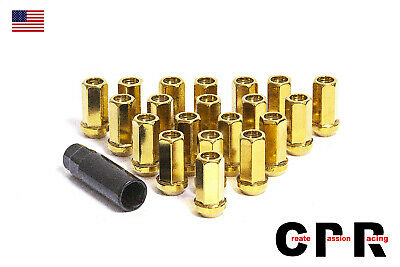 CPR Open Ended 17Hex Steel Wheel Lug Nuts 20Pcs M12X1.5 Polish