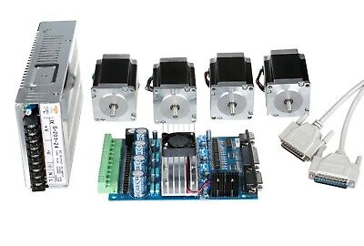 【CN SHIP】4 Axis Nema 23 Stepper Motor 290oz-in 1A 23HS8610& Driver CNC Kit
