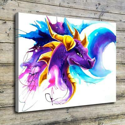 "12""x16""Water Dragon HD Canvas Prints Painting Home Decor Picture Wall Art Poster"