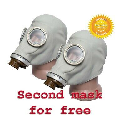 2 pcs Gas mask GP-5 Gray Size-2 Medium Soviet Russian Military New Only masks