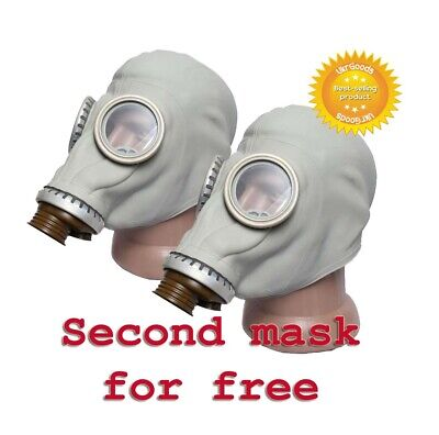 2 pcs Gas mask GP-5 Gray Size-3 Large Soviet Russian Military New Only masks