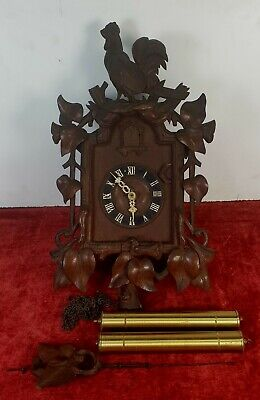 Wall Clock. Wood Front Of Caoba. Black Forest. Germany. Xix Century