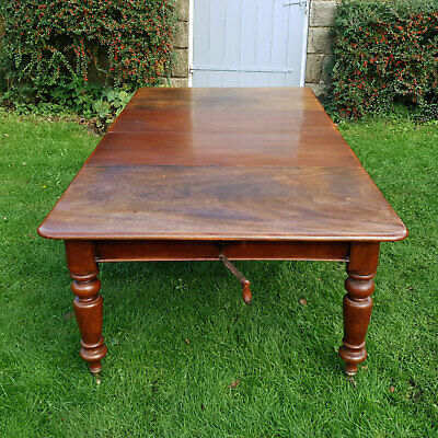 Victorian Large Oak Extending Dining Table C1870